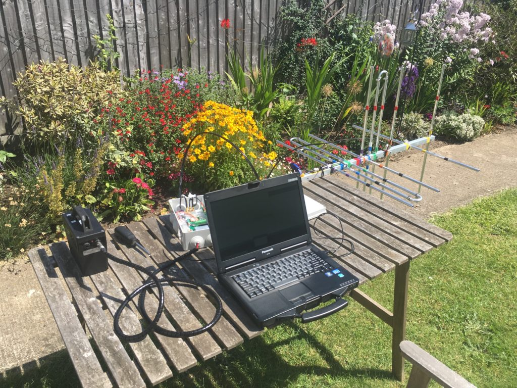 Final system test in my garden – next time this equipment is deployed it won't be nearly so warm!